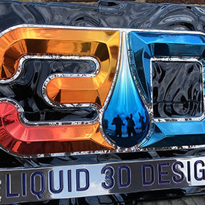 Liquid 3D Design sign created with Valley Tool tooling board & epoxy