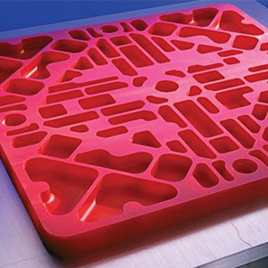 "Carved ""Red Stuff"" tooling board for molding applications"